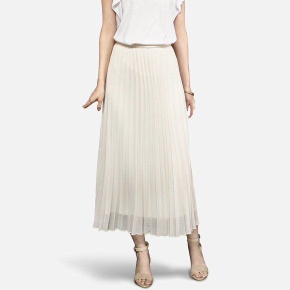 afe9aa832b Uniqlo Skirts | Nwt Chiffon Pleated Skirt In Cream | Poshmark